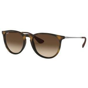 Ray-Ban Ladies Erika Classic Tortoise Gunmetal Sunglasses Brown Gradient Lens