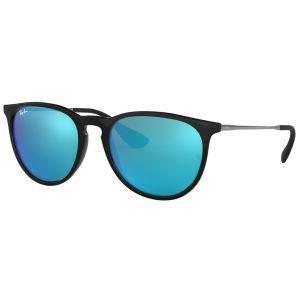 Ray-Ban Ladies Erika Color Mix Black Gunmetal Sunglasses - Blue Mirror Lens