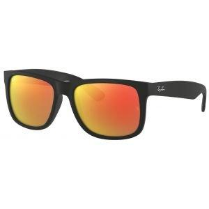 Ray-Ban Justin Color Mix Black Sunglasses - Red Mirror Lens