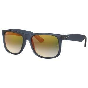 Ray-Ban Justin Flash Blue Sunglasses - Green Gradient Lens