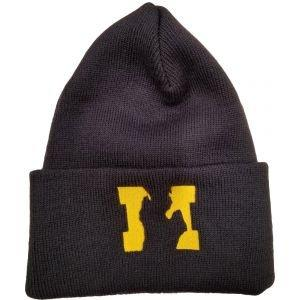State Of Michigan Knit Winter Hat Blue