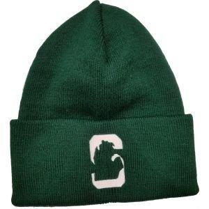 State Of Michigan Knit Winter Hat Grey/Green
