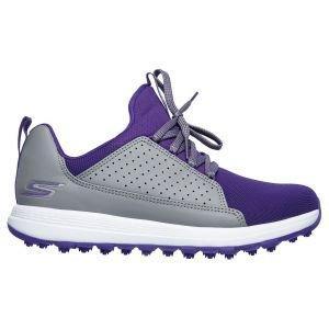 Skechers Junior Girls Go Golf Max Lil Mojo Golf Shoes Gray/Purple