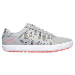 Skechers Womens Go Golf Drive 4 Dogs At Play Golf Shoes Gray/Pink