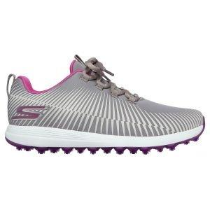 Skechers Womens GO GOLF Max Swing Golf Shoes Gray/Purple