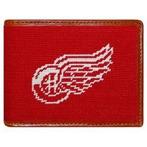 Smathers & Branson Detroit Red Wings Needlepoint Bi-Fold Wallet