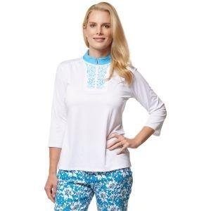 Sport Haley Women's Carmen 3/4 Sleeve Soild Golf Polo