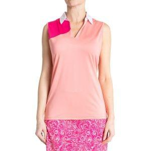 Sport Haley Women's Jardin Sleeveless Colorblock Golf Polo