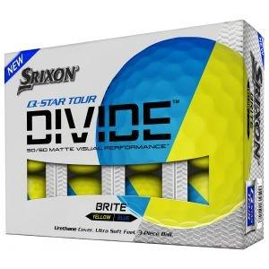Srixon Q-STAR Tour Divide Yellow Blue Golf Balls Packaging