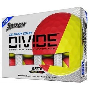 Srixon Q-STAR Tour Divide Yellow/Red Golf Balls