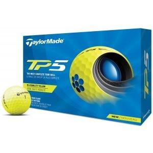 2021 TaylorMade TP5 Yellow Golf Balls Packaging