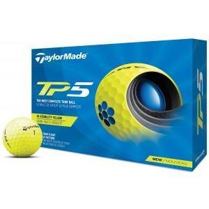 2021 TaylorMade TP5 Yellow Golf Balls Packaging