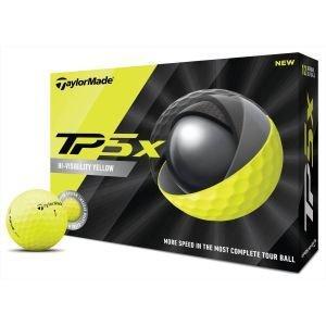 TaylorMade TP5x Yellow Golf Balls 2020