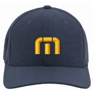 Travis Mathew Michigan TM Logo Nassau Golf Hat - Maize And Blue