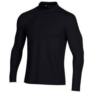 Under Armour Rush Coldgear Long Sleeve Mock Golf Shirt - ON SALE - 999 BLACK - XXXL