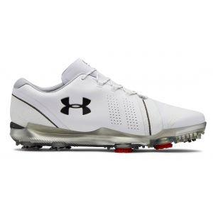 Under Armour Jordan Spieth 3 Golf Shoes - White/Overcast Gray