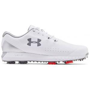 Under Armour UA HOVR Drive Golf Shoes White/Metallic Silver