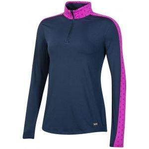 Under Armour Women's Zinger Feather Print 1/4 Zip Golf Pullover