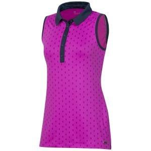 Under Armour Women's Zinger Feather Print Sleeveless Golf Polo