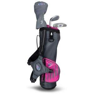 U.S. Kids UL39 3 Club Junior Golf Set - Grey/Pink Bag