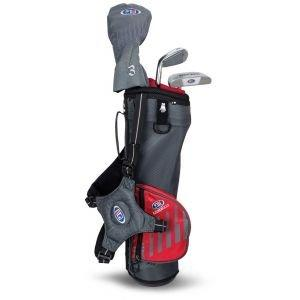 U.S. Kids UL39 3 Club Junior Golf Set - Grey/Red Bag