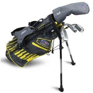 U.S. Kids UL42 4 Club Junior Golf Set - Grey/Yellow Bag