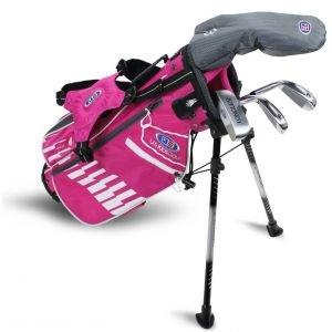 U.S. Kids UL42 4 Club Junior Golf Set - Pink/White Bag