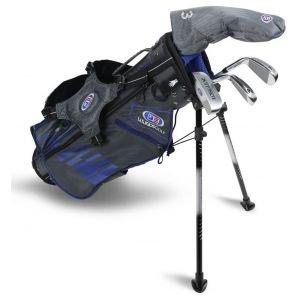 U.S. Kids UL45 4 Club Junior Golf Set - Grey/Blue Bag