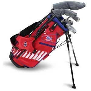 U.S. Kids UL48 5 Club Junior Golf Set - Red/White/Blue Bag
