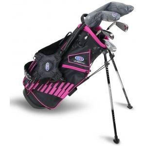 U.S. Kids UL51 5 Club Junior Golf Set - Black/Pink Bag