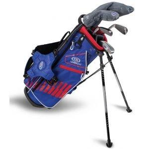 U.S. Kids UL51 5 Club Junior Golf Set - Blue/Red/White Bag