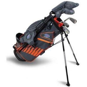 U.S. Kids UL51 5 Club Junior Golf Set - Grey/Orange Bag