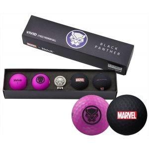 Volvik Vivid Marvel Black Panther Golf Balls