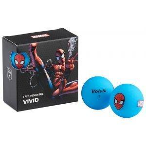 Volvik Vivid Marvel Square Pack Spider Man Golf Balls