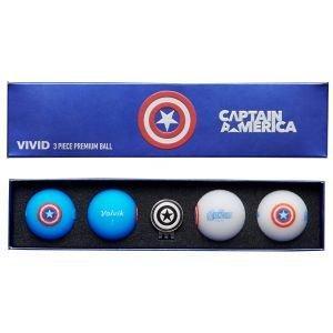 Volvik Vivid Captain America Marvel Golf Balls