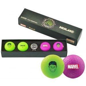 Volvik Vivid Marvel Hulk Golf Balls
