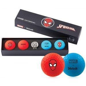 Volvik Vivid Marvel Golf Balls Spider-Man