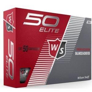 Wilson Fifty Elite Golf Balls White