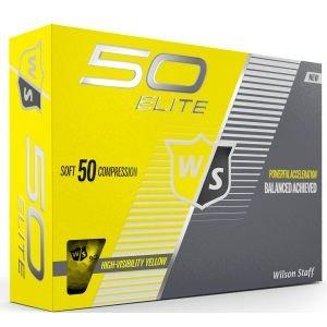 Wilson 50 Elite Golf Balls Yellow