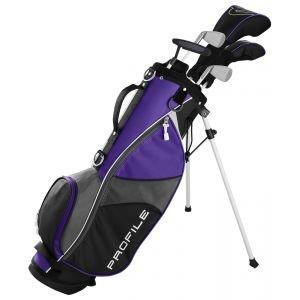 Wilson Junior Kids Medium Profile JGI Complete Carry Golf Club Set Purple Age 8-11