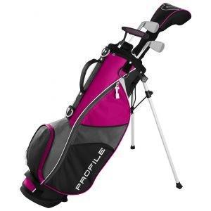 Wilson Junior Kids Small Profile JGI Complete Carry Golf Club Set Pink Age 5-8