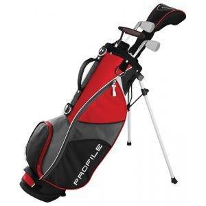 Wilson Junior Kids Small Profile JGI Complete Carry Golf Club Set Red Age 5-8