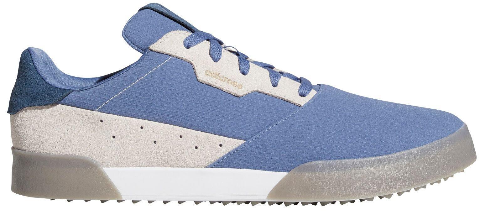 adidas Adicross Retro Spikeless Golf Shoes 2021 - Blue/Navy/Grey
