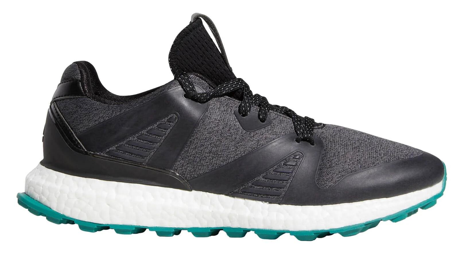 Adidas Crossknit 3 0 Golf Shoes Black Grey Active Green Carl S Golfland
