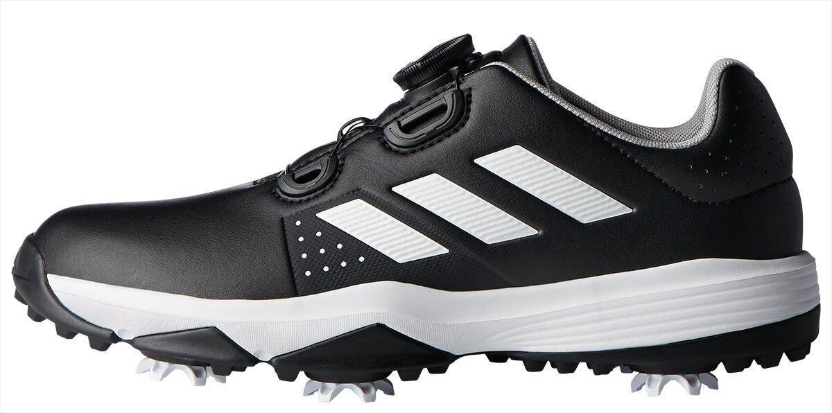 adidas Junior Adipower Boa Golf Shoes Black/White - ON SALE