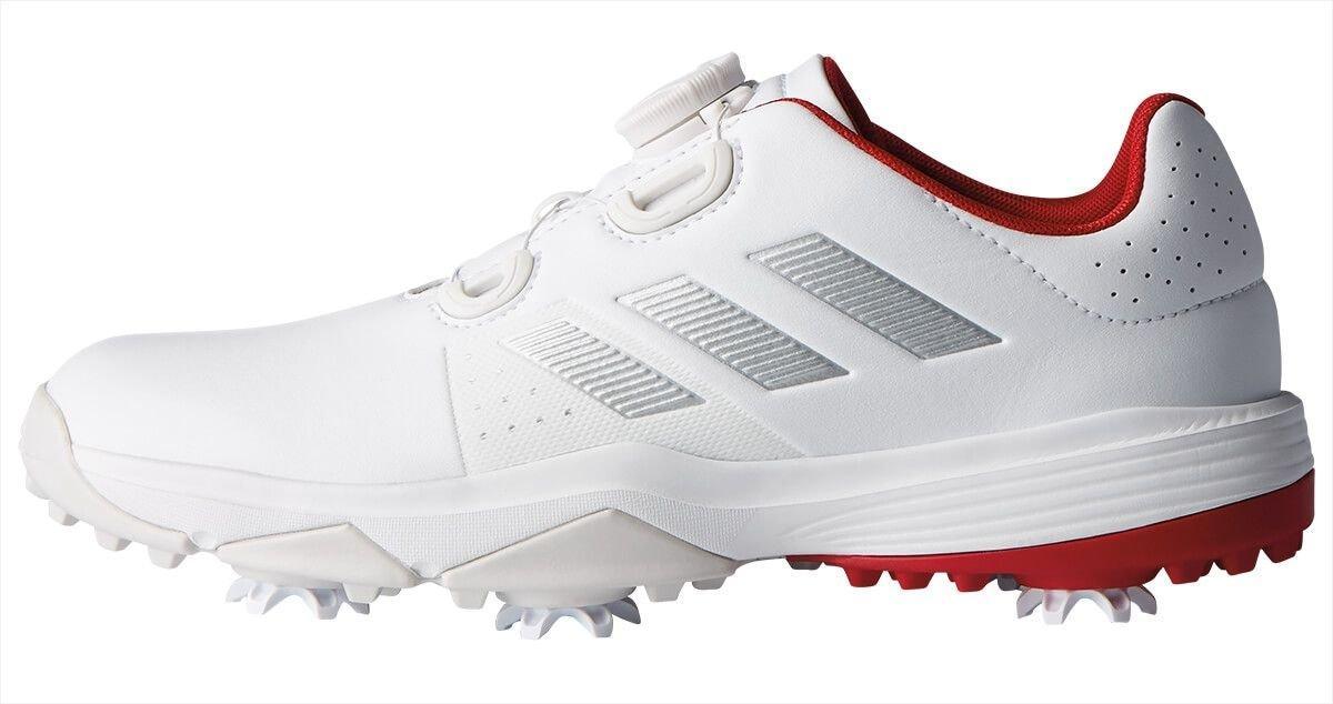 Adidas Junior Adipower BOA Golf Shoes White/Silver/Scarlet ...