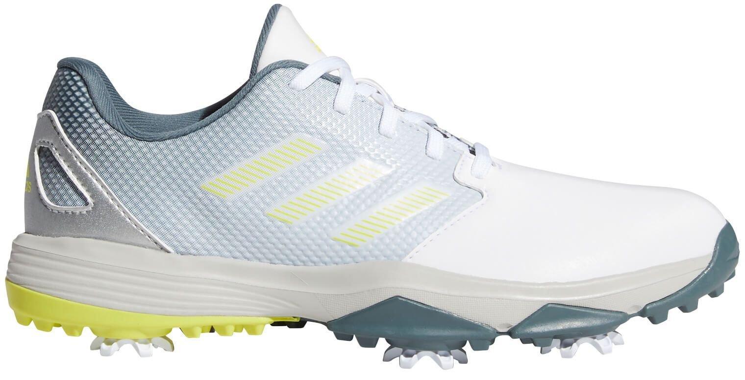 adidas Junior Kids ZG21 Golf Shoes - White/Acid Yellow/Blue Oxide