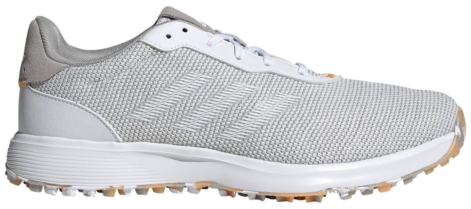 adidas S2G Spikeless Golf Shoes 2021 - Grey/Cloud White/Hazy Orange