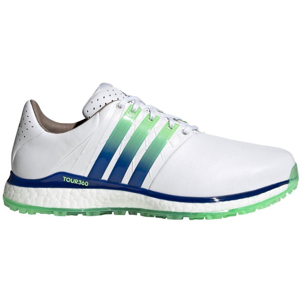 adidas Tour360 XT-SL 2.0 Spikeless Golf Shoes 2021 - White/Royal Blue/Mint