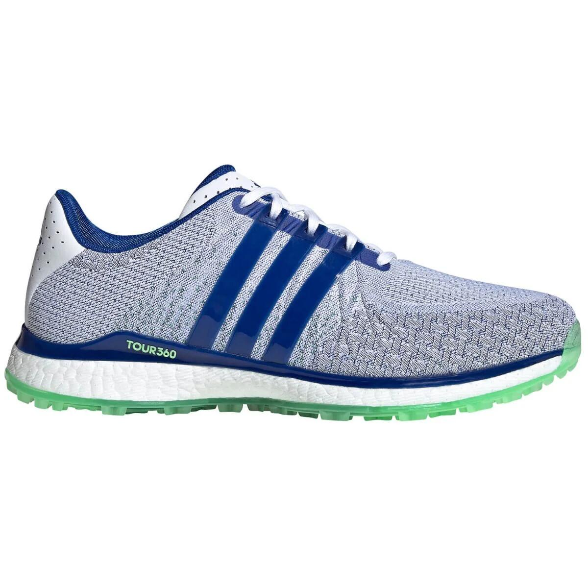Solenoide malo invadir  adidas Tour360 XT-SL Spikeless Textile Golf Shoes White/Royal Blue/Mint -  Carl's Golfland
